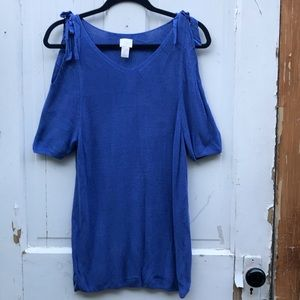 Chico's cold shoulder sweater Size Large